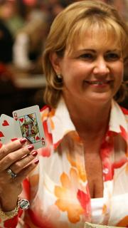 Mary Jones and her winning hand