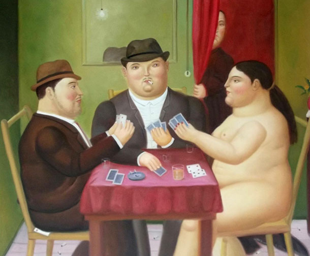10 Card players Botero