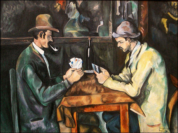 6 Card players di Cezanne