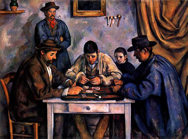 7 cezanne Card players