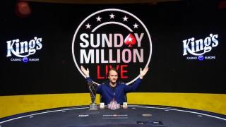 STB 7109Sunday Million Live Rozvadov 4.9.2017 winner Philipp SalewskiPCMON2017Tomas Stacha