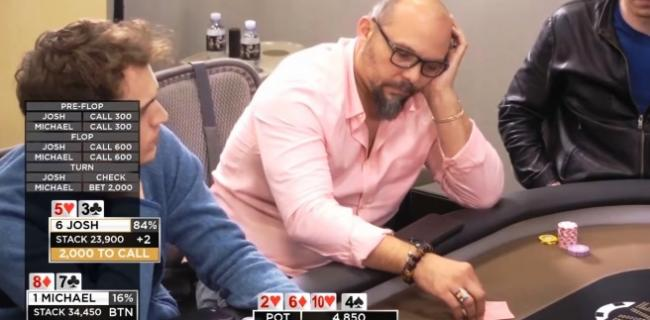 Poker Video of the Week: One Flop, Two Gutshots