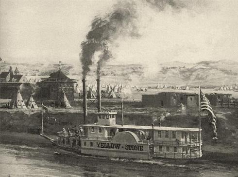 mississippi steamboat illustration 1830s