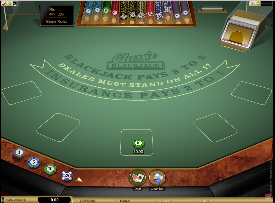 Blackjack table top view - Roxy Palace Casino Table