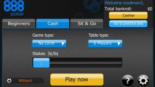 888 Poker Mobile NJ Lobby
