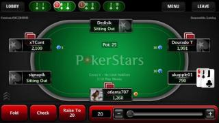 Pokerstars.fr Mobile Table