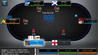 888 Poker Mobile NJ Table