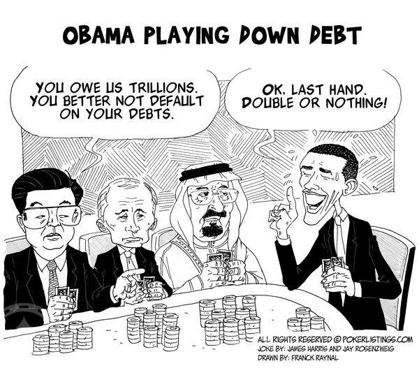 Poker Joker - Obama Playing Down  Debt