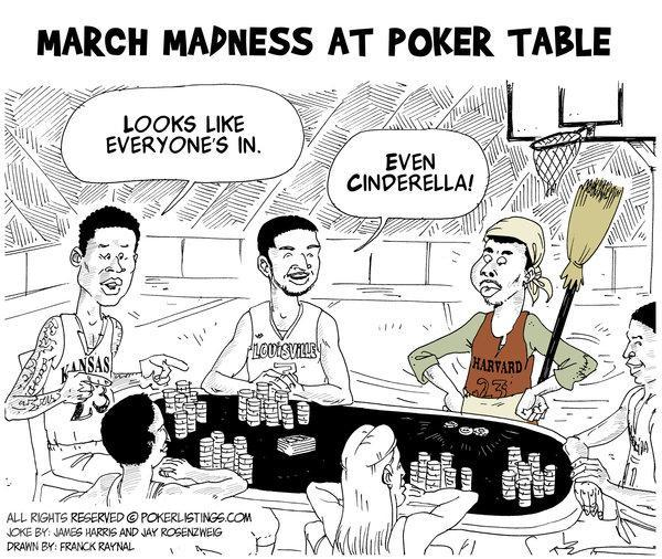 Poker Joker - March Madness at Poker Table