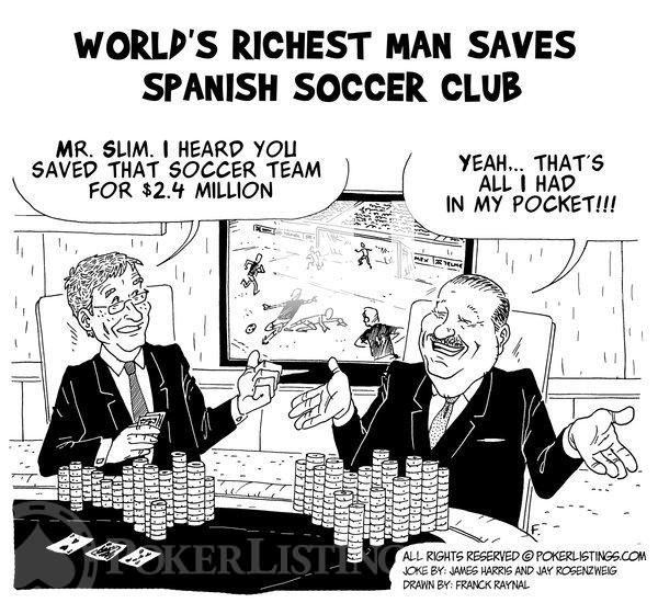 Poker Joker - Carlos Slim saves Spanish soccer club