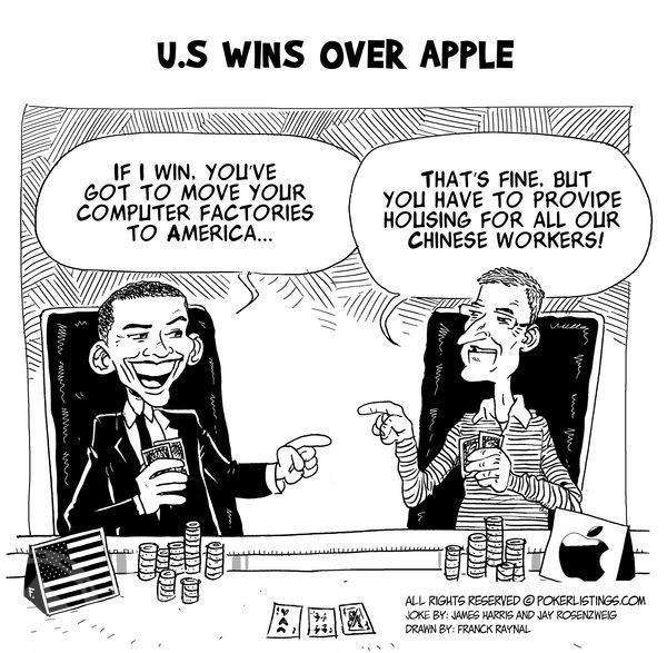 Poker Joker - U.S. wins over Apple