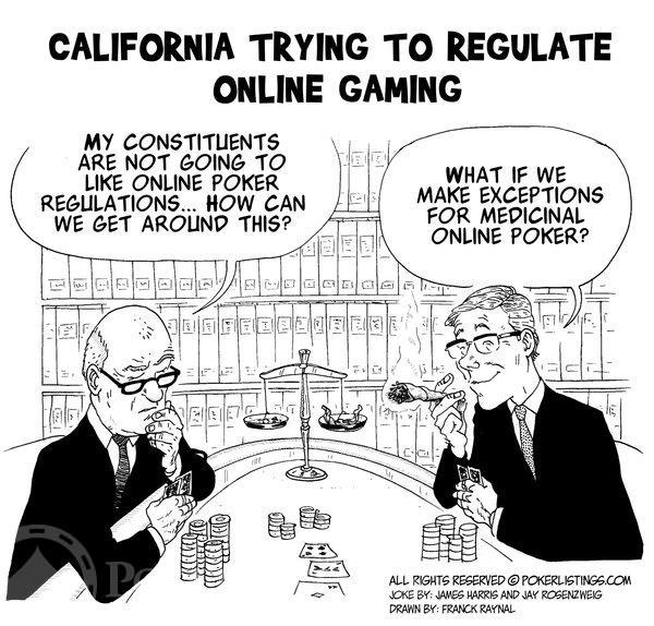 Poker Joker - California trying to regulate online gaming