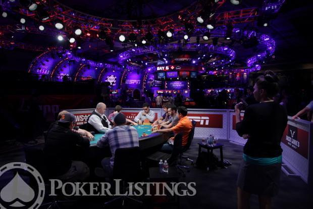 2013 WSOP Main Event Day 5 Amazon Room 6