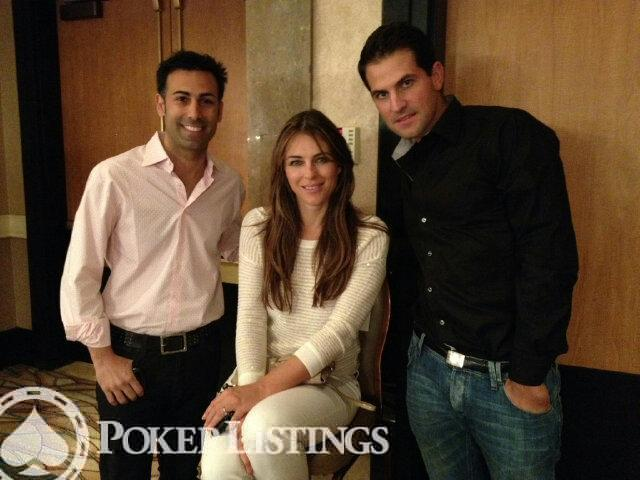 Elizabeth Hurley with Ali Nejad and Brandon Adams