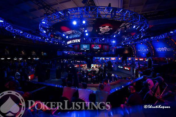 Feature table at 2013 WSOP Main Event