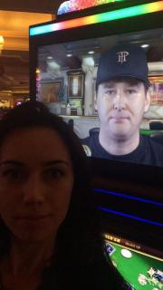 Phil Hellmuth heads up machine