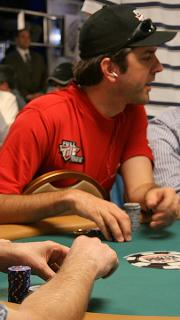 WSOP red shirt small stack
