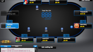 888Poker Client screen shot