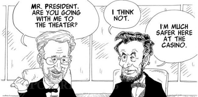 Spielberg Plays Poker With Lincoln