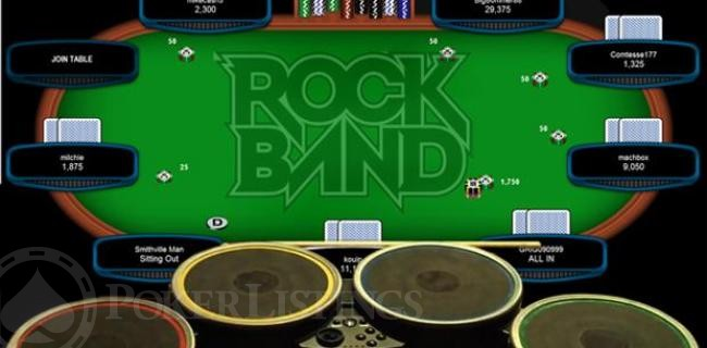 How to Play Poker with Your Rock Band Drum Kit