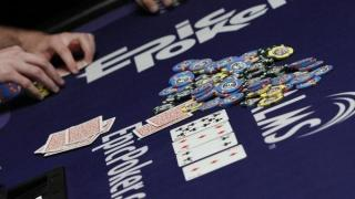 Epic Poker logo on table