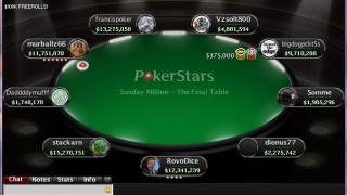 sunday million final table
