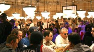 The final table of the WSOP 2005 $1,500 Limit Hold'em tournament