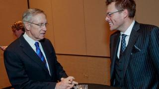 Harry Reid (left) and Chad Elie