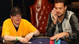 Jamie Gold and Jean-Robert Bellande at the Dream Team Poker event.