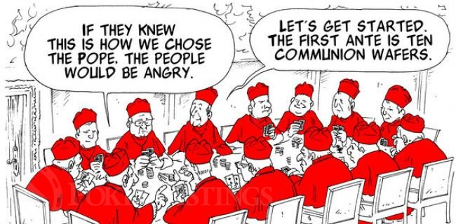 Cardinals Playing Poker At Papal Conclave