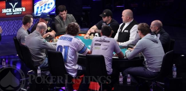Ryan Riess Repping Detroit Lions at WSOP Main Event Final Table