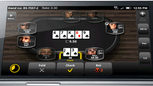 Bwin Poker Client on Android