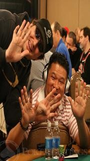 Johnny Chan and Phil Hellmuth
