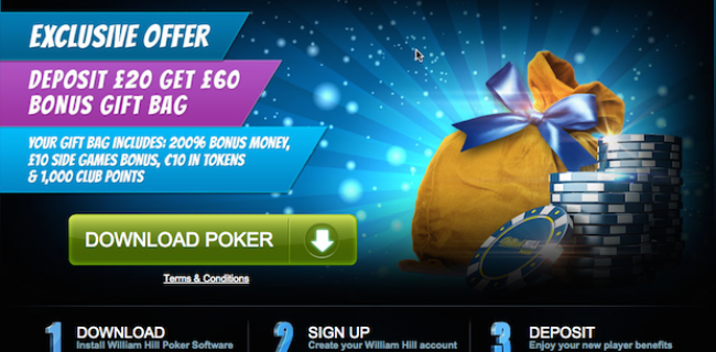 William Hill Poker giftbag