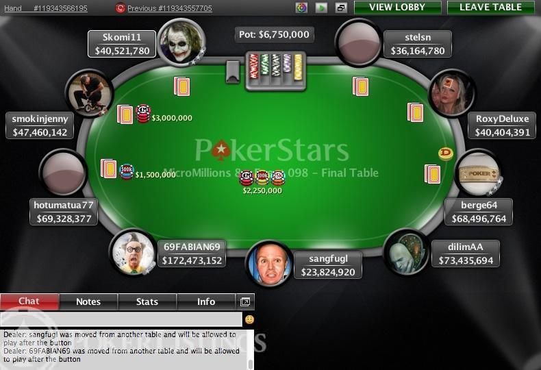 poker all-in for less than big blind